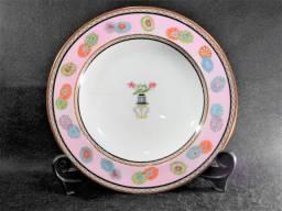 """Antigo Prato Inglês em Porcelana marca """"Wedgwood"""" (Staffordshire, England - 1878-1900)"""
