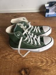 Converse All Star cano alto verde