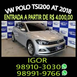 Imperdível! Vw Polo TSI200 aut COMFORTLINE 2018, falar com Igor - 2018