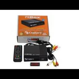 Kit Completo Tv Digital - Conversor Digital Gravador Hdmi + Antena Uhf + Cabo - Century<br><br>
