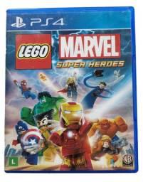 Jogos ps4 fisica Lego Marvel Super Heroes Capa Azul PT-BR