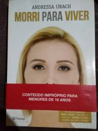 Livro Morri para viver (Andressa Urach) autografado