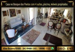 Casa no Bosque dos Poetas com 4 suítes, piscina, móveis projetados