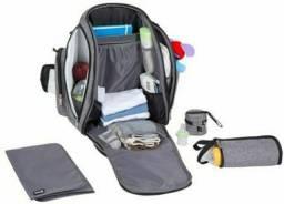 Mochila Multifuncional Back Pack Safety 1st de Poliéster Prata
