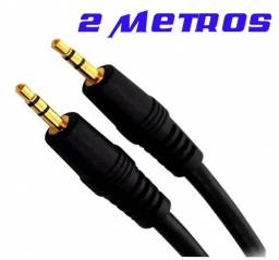Cabo De Áudio P2 Para Pc Estéreo Auxiliar Caixa De Som