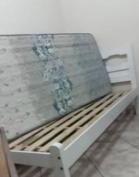 Cama solteiro + colchão ecoflex 300,00