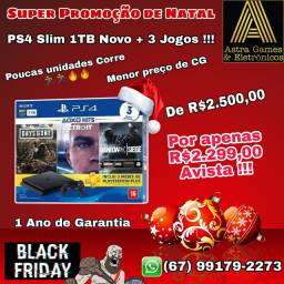 Black Friday PS4 Slim NOVO na Loja Astra Games !!!!