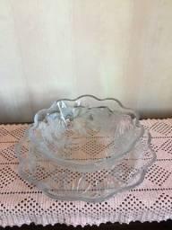 Fruteira em cristal de vidro