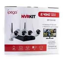 Kit Câmera De Segurança Sem Fio Nvr Ipega Dvr + 4 Camera Hd
