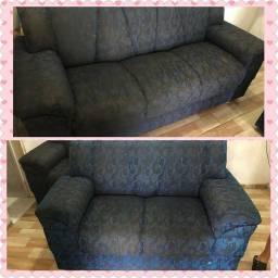 Vendo sofás 2 e 3 lugares em perfeito estado