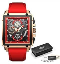 Título do anúncio: Relógio masculino lige 2021 marca top luxo à prova d' água quartzo quadrado