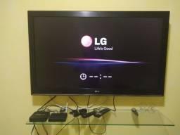 TV LG + box 5g Mxqpro 4k + conversor digital + DVD Philips