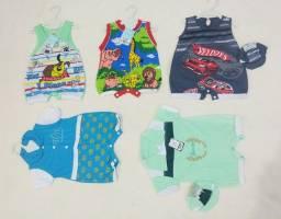 Roupas Bebê passeio kit com 5 peças