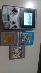 GB boy colour + Zelda,pokémon e Super Mario