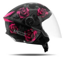 Título do anúncio: Capacete New Liberty 3 Flower Rosa