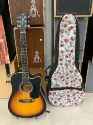 Violão folk de aço Giannini+ bag acolchoada personalizada