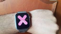 Smartwatch X8 Branco Original - Acompanha pulseira de aço inoxidável