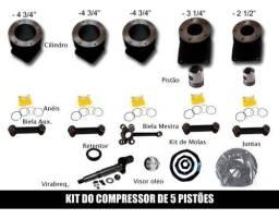 Kit peças compressor 60 pes 5 cilindros