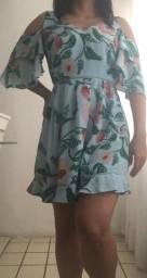 Vestido curto estampado patbo