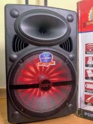 Caixa de Som Super Bass 2000 w de potência Bluetooth e Controle
