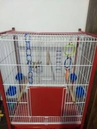 Título do anúncio: Viveiro de Pássaros c/ Brinquedos + Rações
