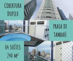 Título do anúncio: Cobertura Duplex para venda tem 240 metros quadrados com 5 quartos em Tambaú - João Pessoa