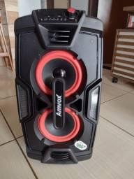 Caixa de som amvox 200w turbo amplificada