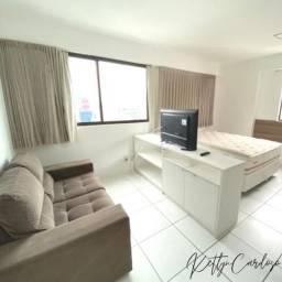 WS-Flat Studio em Boa Viagem|mobiliado|1600|33m2|com taxas inclusas