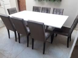 Mesa de jantar Laca com 8 cadeiras (posso entregar)