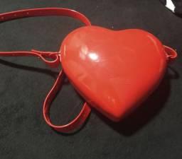 Bolsa melissa coração.