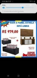 Rack é painel + Sofá estrela Lisboa