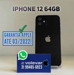 12x416 cartao! IPhone 12 64GB - NENHUMA Marca de uso - Garantia Apple até 03/22!
