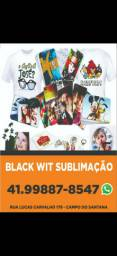 Black wit sublimação