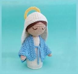 Santinha Maria Amigurumi - Nossa Senhora