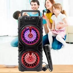 Caixa De Som Com Microfone FVO