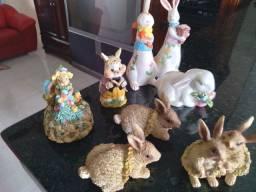 Coelhinhos de emfeite bibelôs
