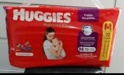 Vendo ou troco fralda huggies M