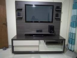 "Painel + rack + TV Samsung 55"" plasma + home theater"