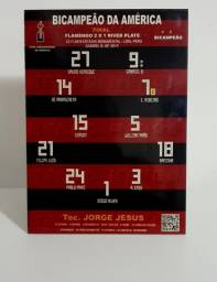 Placa decorativa em MDF escalção do Flamengo
