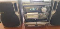 Raridade! Aparelho De Som Mini System Aiwa Nsx-5205 Usado!<br>