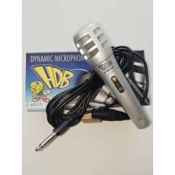 Microfone com Fio, Prata, Novo