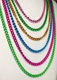 Colares colors - kit 10 colares