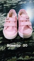 Tênis Infantil Rosa Pampili nº 20