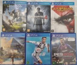 Título do anúncio: Vendo 5 jogos para PS4 ( SEMINOVOS  ).