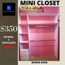 Closet com bordas rosas 100% m?f promoção tenho outros modelos também