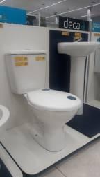 Vaso sanitário e lavatório deca com coluna suspensa