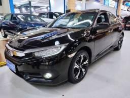 Honda Civic Touring 1.5 Turbo Preto 2017 (Automático + Couro + Teto Solar)