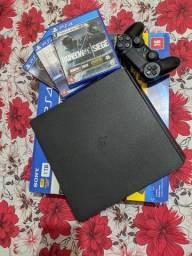 PS4 Slim 1TB  console novo, único dono