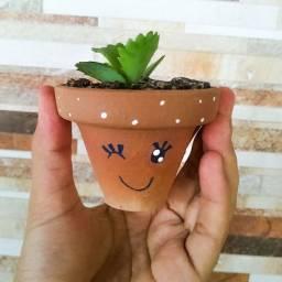 Vaso personalizado com suculenta