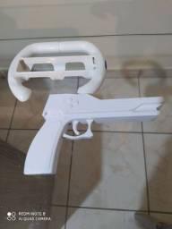 Volante e pistola Wii